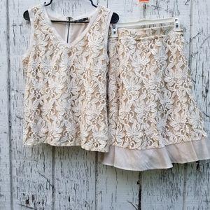 Nic+Zoe 2 Pc Lace Suit!
